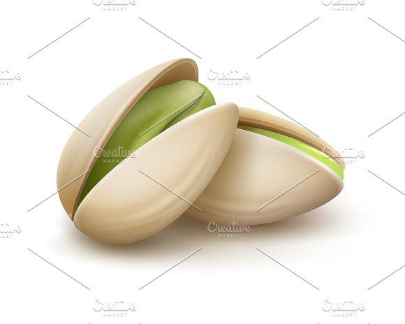 Two pistachio nuts