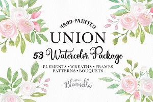Watercolor Wedding Flower Clipart