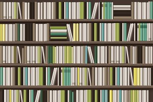 Large bookcase background