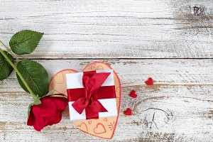 Valentines Card with lovely gifts