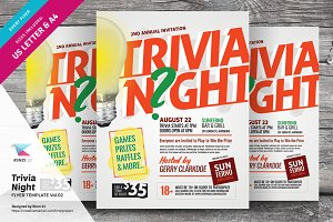 Trivia Night Flyer Template Vol.02