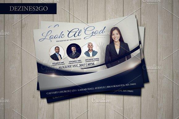 Look At God Church Flyer