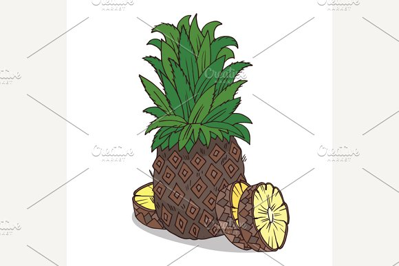Isolate ripe ananas fruit