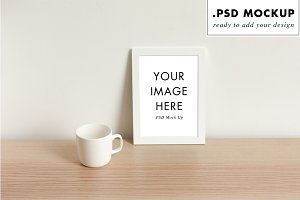Feminine design studio frame mock up