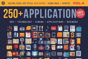 Application 250+ pixel icons