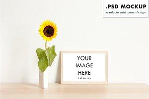 Floral frame mock up