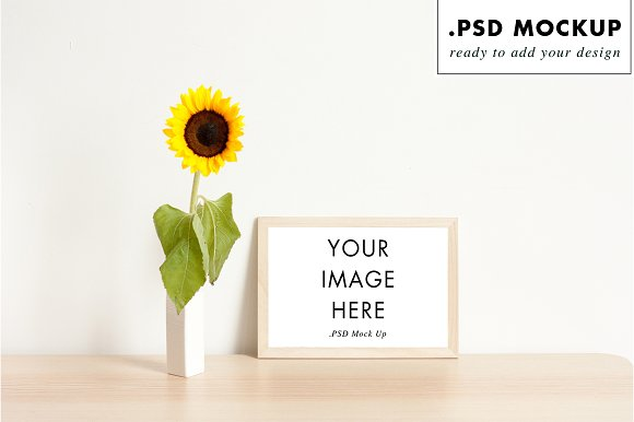 Floral Frame Mock Up
