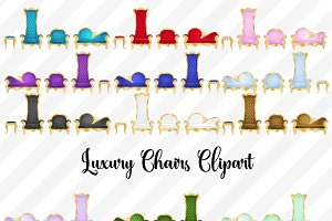 Luxury Chairs Vector Clipart