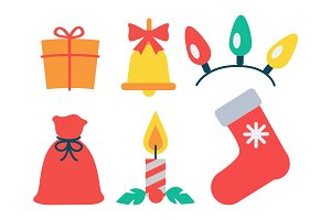 Christmas Icon Collection Vector Illustration