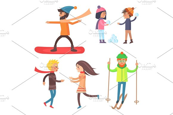 People Collection of Icons Vector Illustration in Illustrations