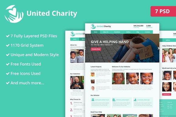 Charity PSD Website Template