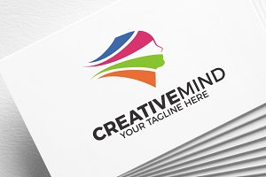 Creative Mind | Face | logo