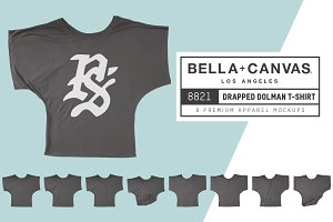 Bella Canvas 8821 Draped Dolman Tee