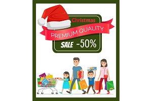 Half Price Premium Quality Christmas Sale Banner