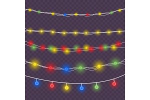 Christmas colored lights