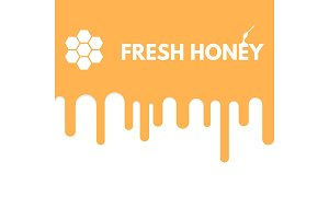 Fresh honey drop