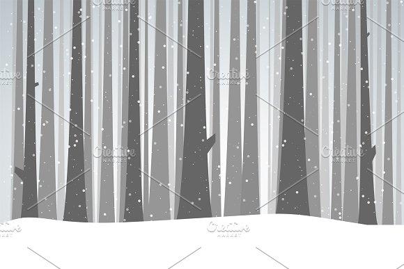 Winter black forest