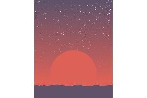 Space retro banner