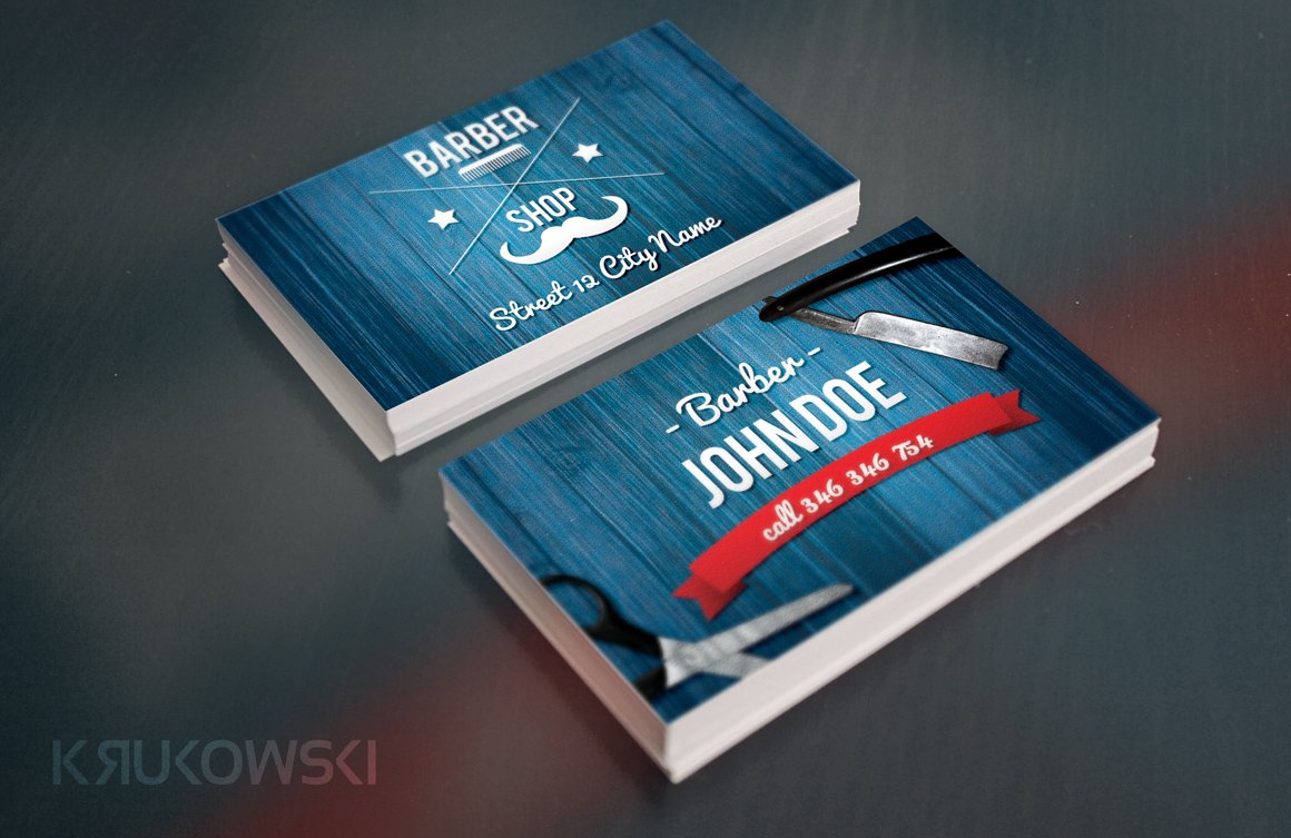 Barber business card template business card templates creative barber business card template business card templates creative market cheaphphosting Images