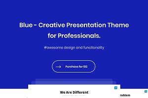 Blue - Powerpoint Template