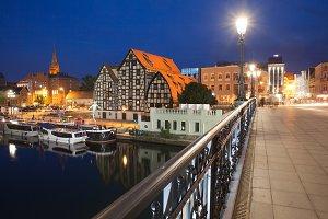 City of Bydgoszcz by Night in Poland