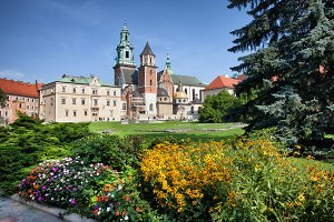 Wawel Cathedral and Garden in Krakow
