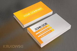 Yellow Business Card Template