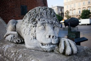 Lion Sculpture From 19th Century