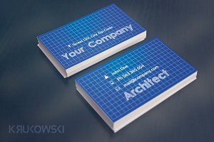 Blueprint Business Card Template