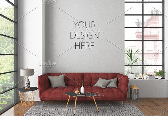 Interior mockup - art background in Product Mockups