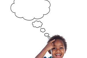 African boy thinking