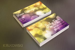 Bokeh Business Card Template