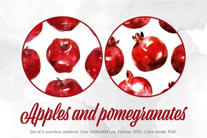 SALE! Apples & pomegranates patterns