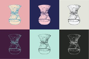 Chemex colorful set