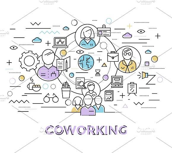 Coworking Line Art