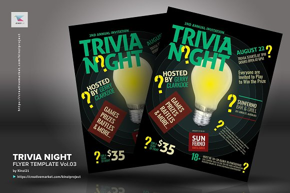 trivia night flyer template vol 03 flyer templates creative daddy