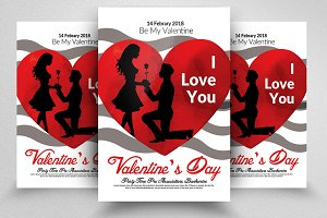 14th Feb Valentines Day Flyers