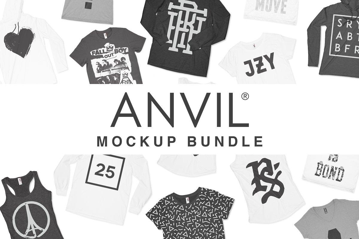 7ad562235 Anvil Knitwear Apparel Mockup Bundle ~ Product Mockups ~ Creative Market