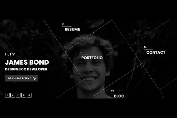 Hello - Resume WordPress Theme