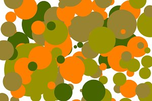 abstract brown orange green geometric background