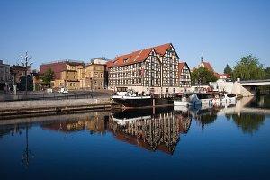 Bydgoszcz City Riverside in Poland