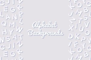 Abstract backgrounds with alphabet