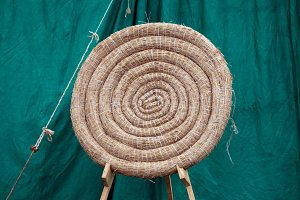 Archery Round Coiled Straw Target