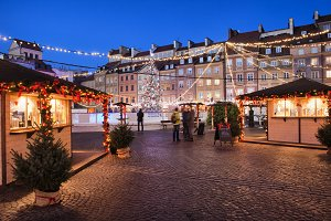 Christmas Old Town Square in Warsaw