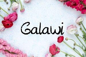 Galawi - Handwritten Script Font