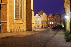 Old Town of Warsaw by Night