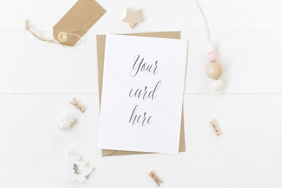 Xmas Stationery Mockup - crd158 in Product Mockups