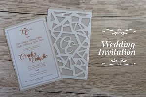 Wedding Invitation ( Laser Cut )