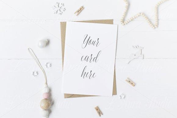 Christmas Card Mockup - crd159