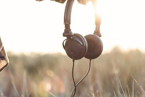 Headphones at Outdoors